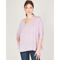 v-neck oversized sweater made of 100% cashmere