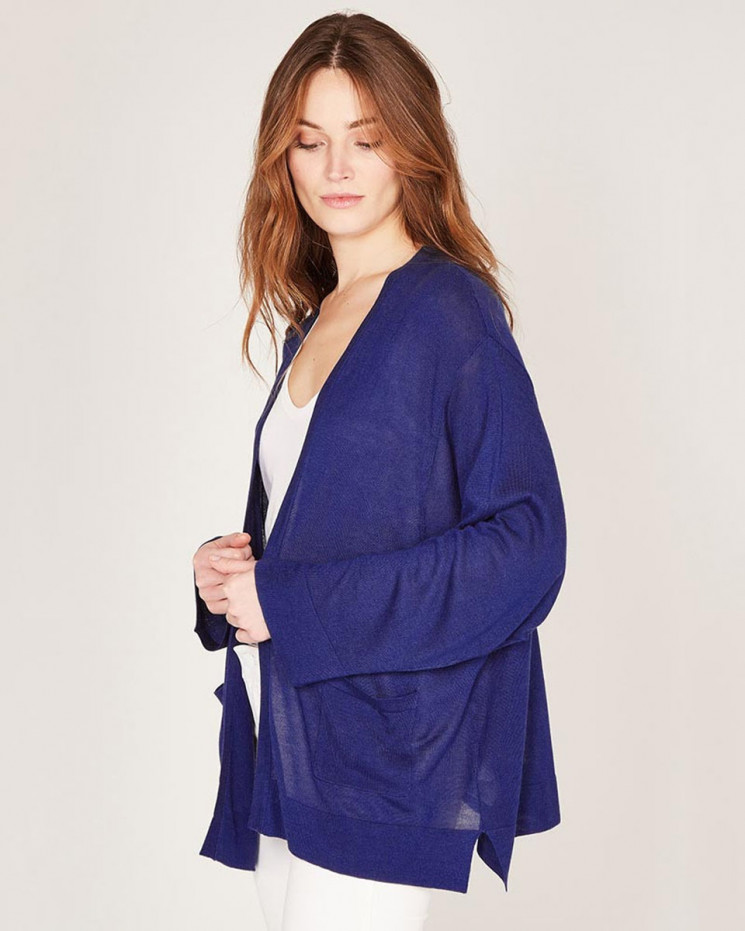 cardigan à poches | 85% bamboo - 15% cachemire | electric | maelle