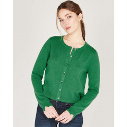 tight fitting cardigan with buttons made of 100% cashmere