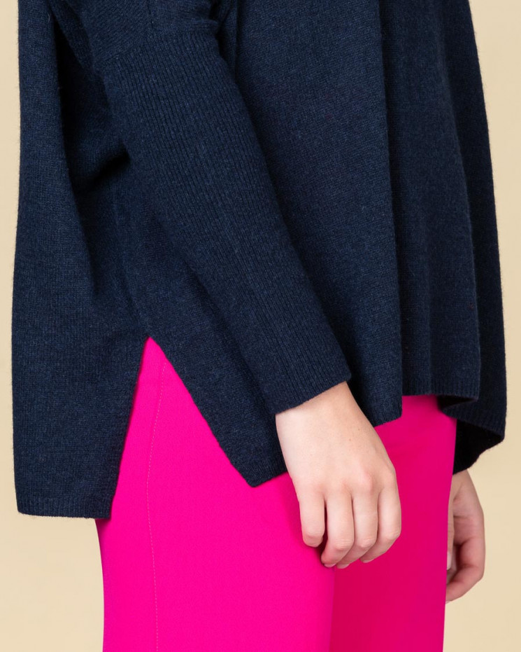 pull col rond oversize | 100% cachemire | nuit | astrid
