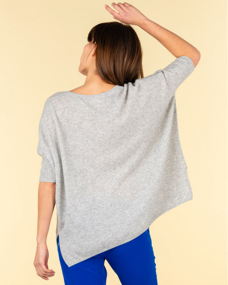 pull col V ample | 100% cachemire | gris chine| kate