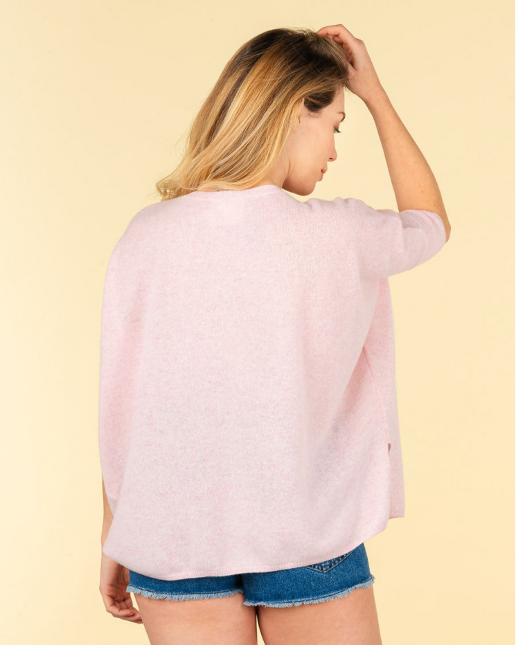 pull col V ample | 100% cachemire | poudre chine| kate