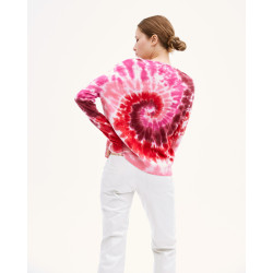 Women's cashmere wool round-neck long sleeves - prune - calypso - absolut cashmere (c)