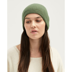 Cashmere ribbed hat - taupe chiné - hortense - absolut cashmere (side)
