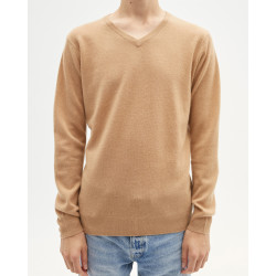 Pull homme cachemire col V manches longues - perruche - paul - absolut cashmere (avant)